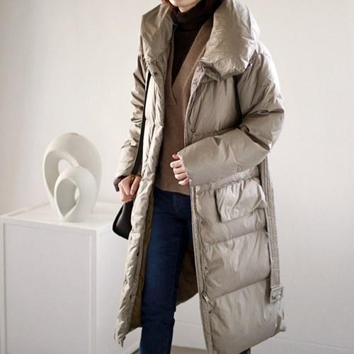 Place duck down long coat