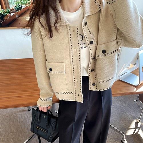 stitch cardigan jacket