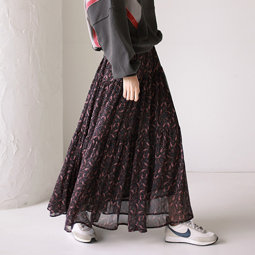 Zenith Flare Chiffon Skirt